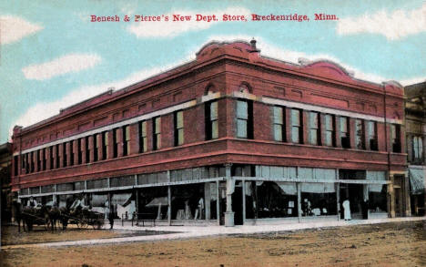 Benesh and Pierce's New Department Store, Breckenridge Minnesota, 1911