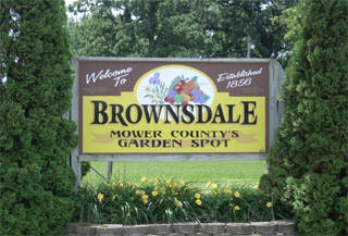 Welcome sign, Brownsdale Minnesota
