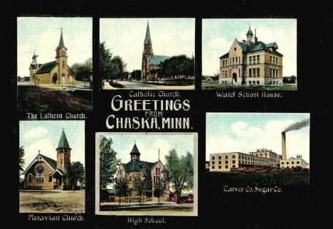Multiple scenes, Chaska Minnesota, 1910