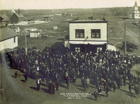 Red Cross Auction Sale, Clearbrook Minnesota, 1918