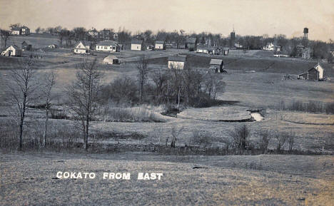 Cokato Minnesota from the east, 1912