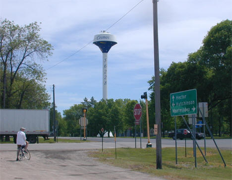Luce Line Trail and Water Tower, Cosmos Minnesota, 2010