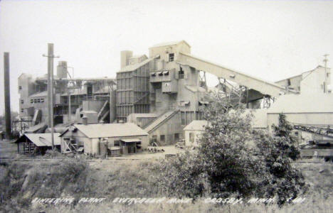 Sintering Plant at Evergreen Mine, Crosby Minnesota, 1950's