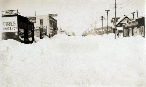 Winter on Main Street, Crosby Minnesota, 1925