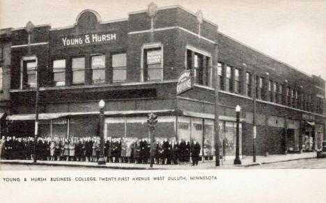 Young and Hursh Business College, 21st Avenue West, Duluth Minnesota, 1915