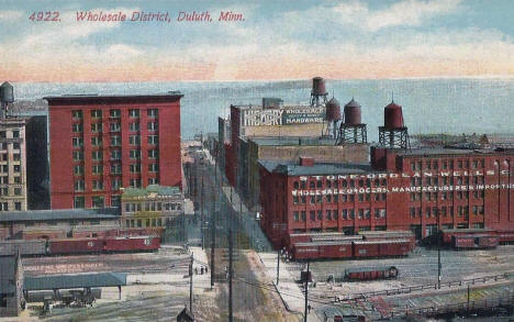 Wholesale District, Duluth Minnesota, 1910's