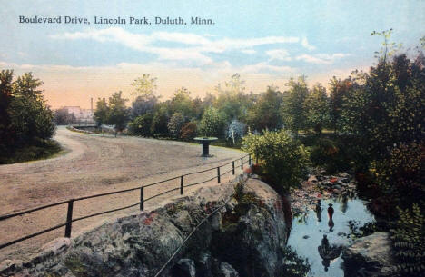 Boulevard Drive, Lincoln Park, Duluth Minnesota, 1916