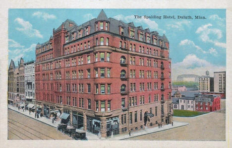 The Spalding Hotel, Duluth Minnesota, 1920's
