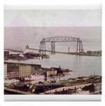 1905 Duluth Harbor and Aerial Lift Bridge Tile Coaster