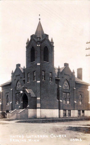United Lutheran Church, Erskine Minnesota, 1940's