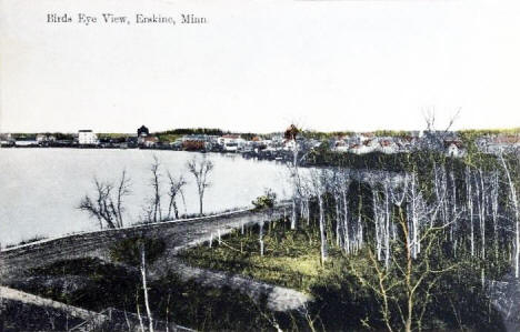 Birds eye view, Erskine Minnesota, 1911