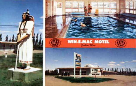 Win-E-Mac Motel, Erskine Minnesota, 1970's