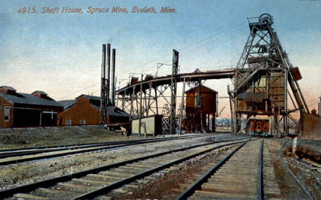 Shaft House, Spruce Mine, Eveleth Minnesota, 1913