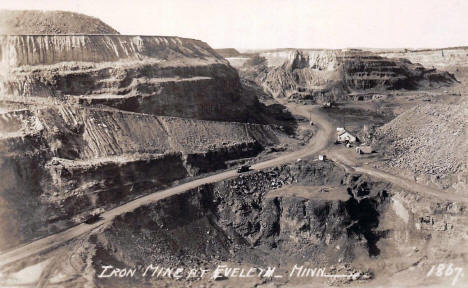 Iron Mine at Eveleth Minnesota, 1956