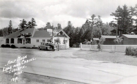 Half Moon Lodge and Cabins, Eveleth Minnesota, 1950's