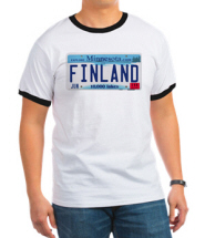 Finland License Ringer T-Shirt