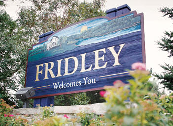 Fridley Minnesota welcome sign