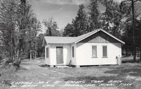 Cottage No. 6 at Greer's Camp Birch on Birch Lake, Hackensack Minnesota, 1955