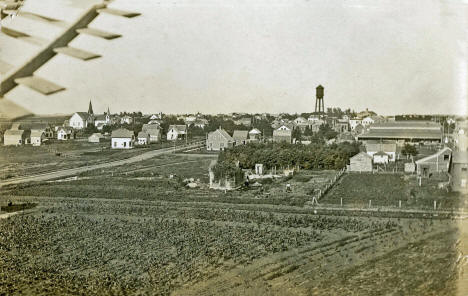 View looking east at Hendricks from a windmill, 1911