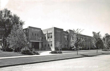 High School, Hutchinson Minnesota, 1954