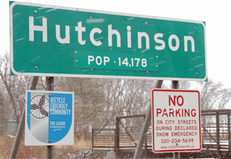 Population sign, Hutchinson Minnesota