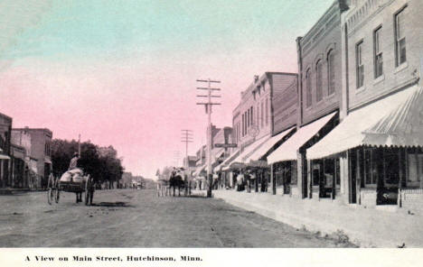 View on Main Street, Hutchinson Minnesota, 1908