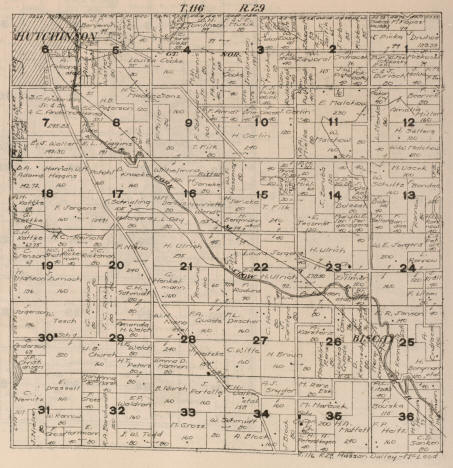 Plat map of Hasson Valley Township, McLeod County, Minnesota, 1916