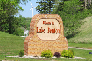 Welcome sign, Lake Benton Minnesota