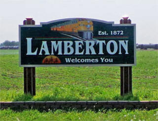 Welcome sign, Lamberton Minnesota