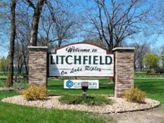 Welcome sign, Litchfield Minnesota