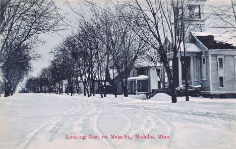 Looking east on Main Street, Madelia Minnesota, 1910's