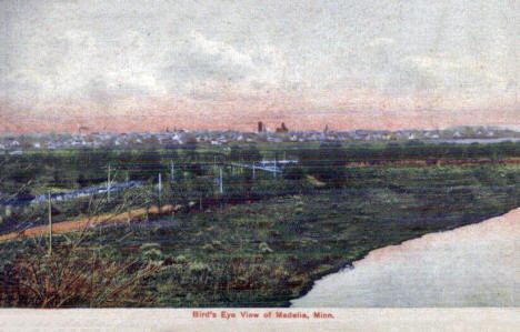 Birds eye view of Madelia Minnesota, 1907