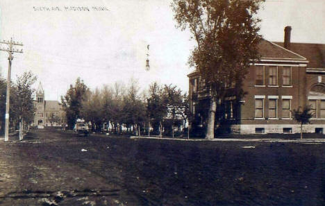Sixth Avenue, Madison Minnesota, 1913