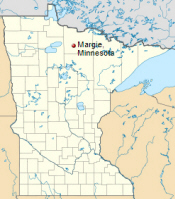 Location of Margie Minnesota