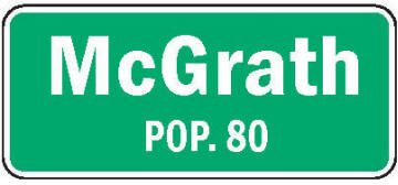 Population sign, McGrath Minnesota
