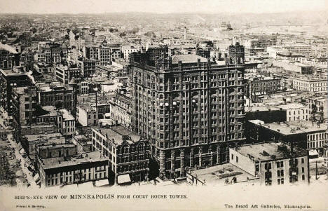 Birds eye view of Minneapolis from the Court House Tower, Minneapolis Minnesota, 1905