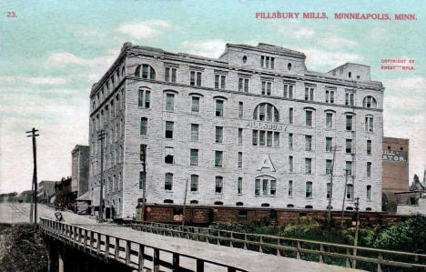 Pillsbury Mills, Minneapolis Minnesota, 1909