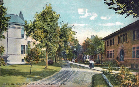 Main approach to the Soldiers Home, Minneapolis Minnesota, 1908