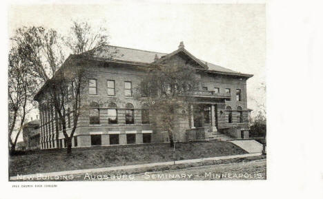 New Building, Augsburg Seminary, Minneapolis Minnesota, 1907