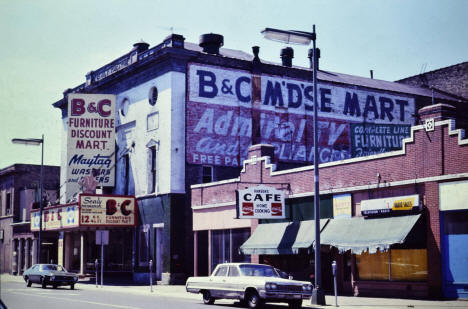 4th Street NE between Central and East Hennepin, Minneapolis Minnesota, 1974
