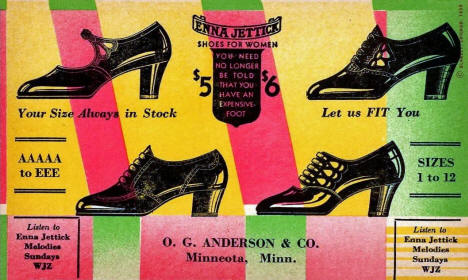 Advertising postcard for O. G. Anderson & Company, Minneota Minnesota, 1920's