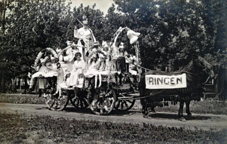 Part of Independence Day Parade, Minneota Minnesota, 1910