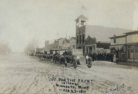 """Off for the Front"", Minneota Minnesota, 1918"