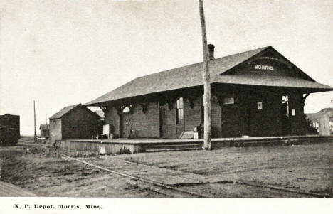 Northern Pacific Depot, Morris Minnesota, 1910's
