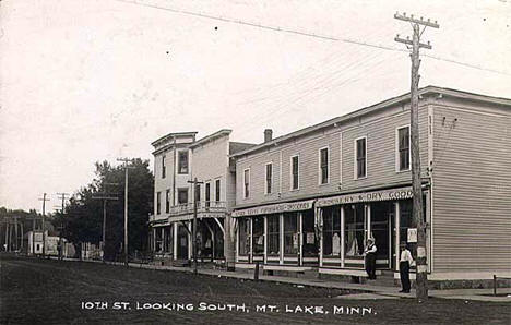 Tenth Street looking South, Mountain Lake Minnesota, 1903