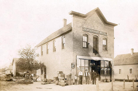 New Germany Hotel and Drug store, New Germany Minnesota, 1904