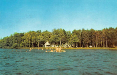 Northern Pines Assembly Grounds on Fish Hook Lake, Park Rapids Minnesota, 1958
