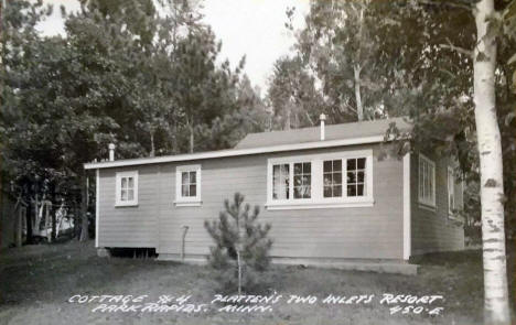 Cottage #4 at Platten's Two Inlets Resort, Park Rapids Minnesota, 1950's