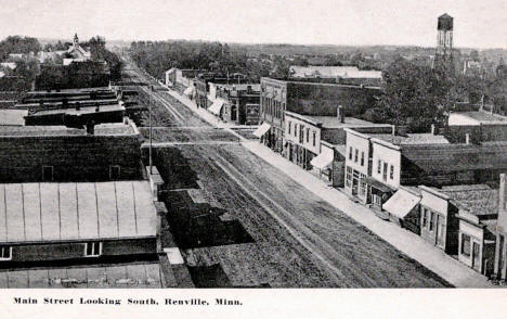 Main Street looking south, Renville Minnesota, 1912