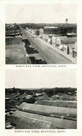 Birdseye views, Renville Minnesota, 1911
